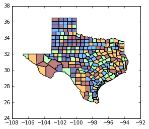 Geovisualization · Geographic Data Science with PySAL and the pydata