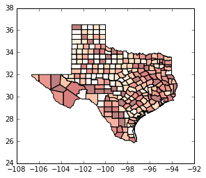 Geovisualization · Geographic Data Science with PySAL and