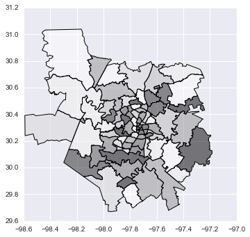 Points · Geographic Data Science with PySAL and the pydata stack